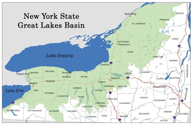 Great Lakes Basin map