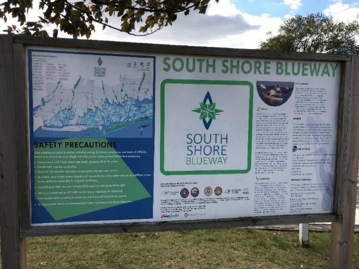 South Shore Blue Way sign