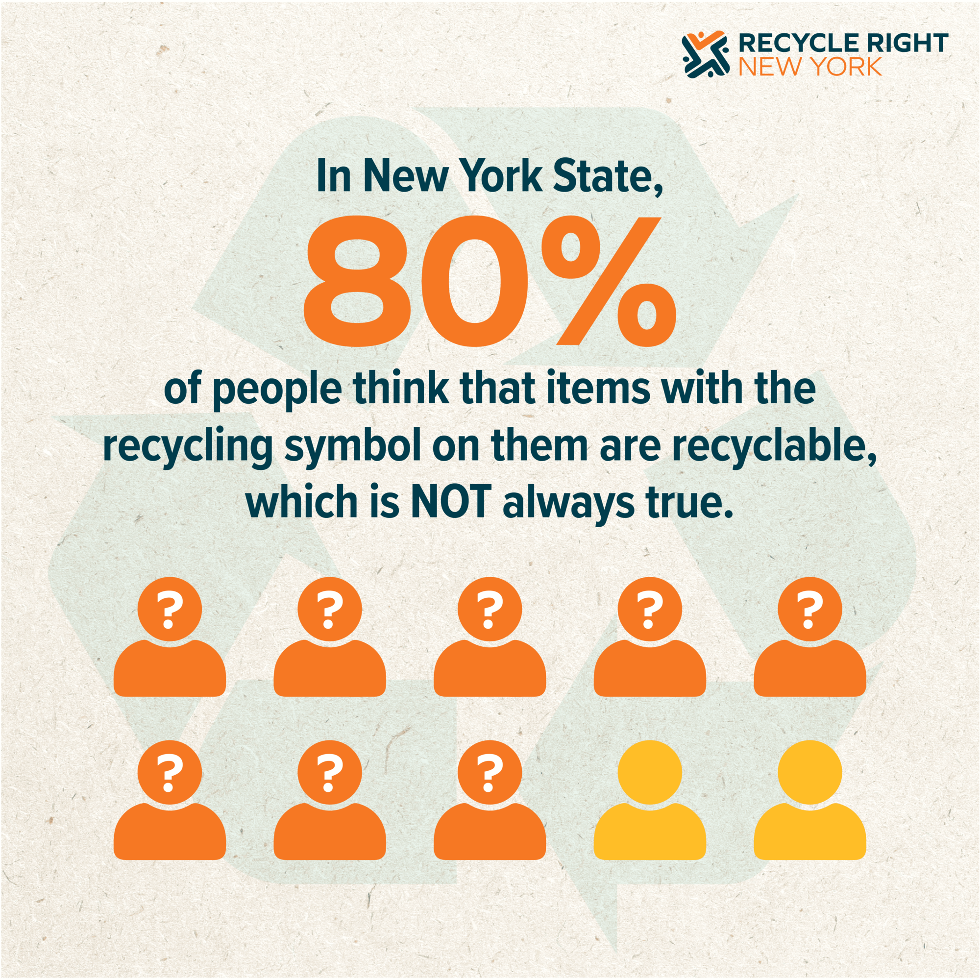 Not everything with a recycling symbol is recyclable.