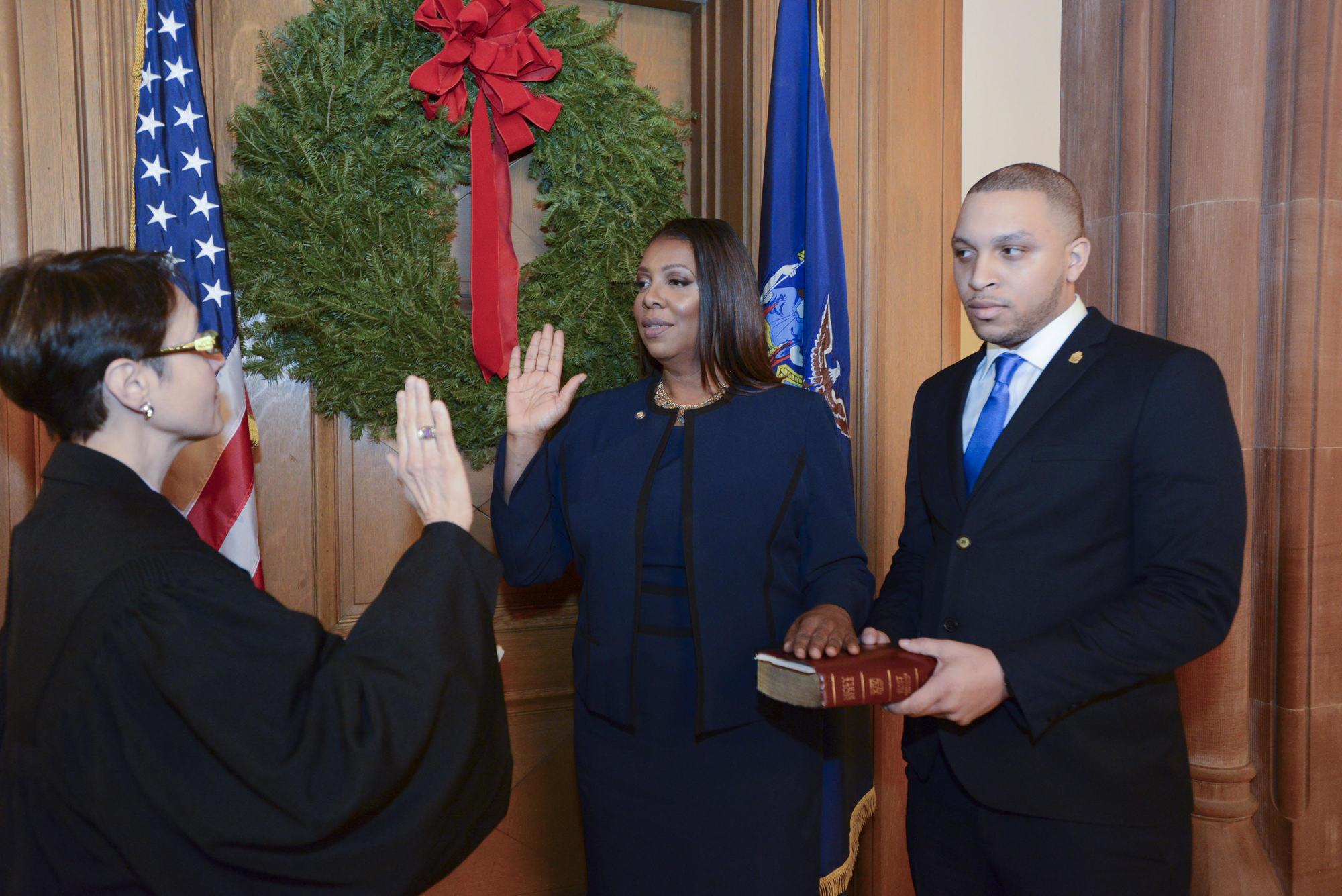 Letitia James Swearing In
