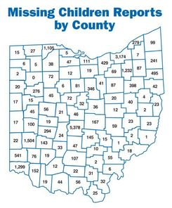 2016 Missing Children Reports by County