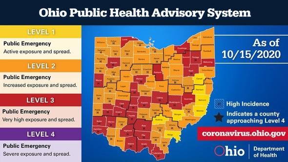 Ohio Public Health Advisory System Oct 15