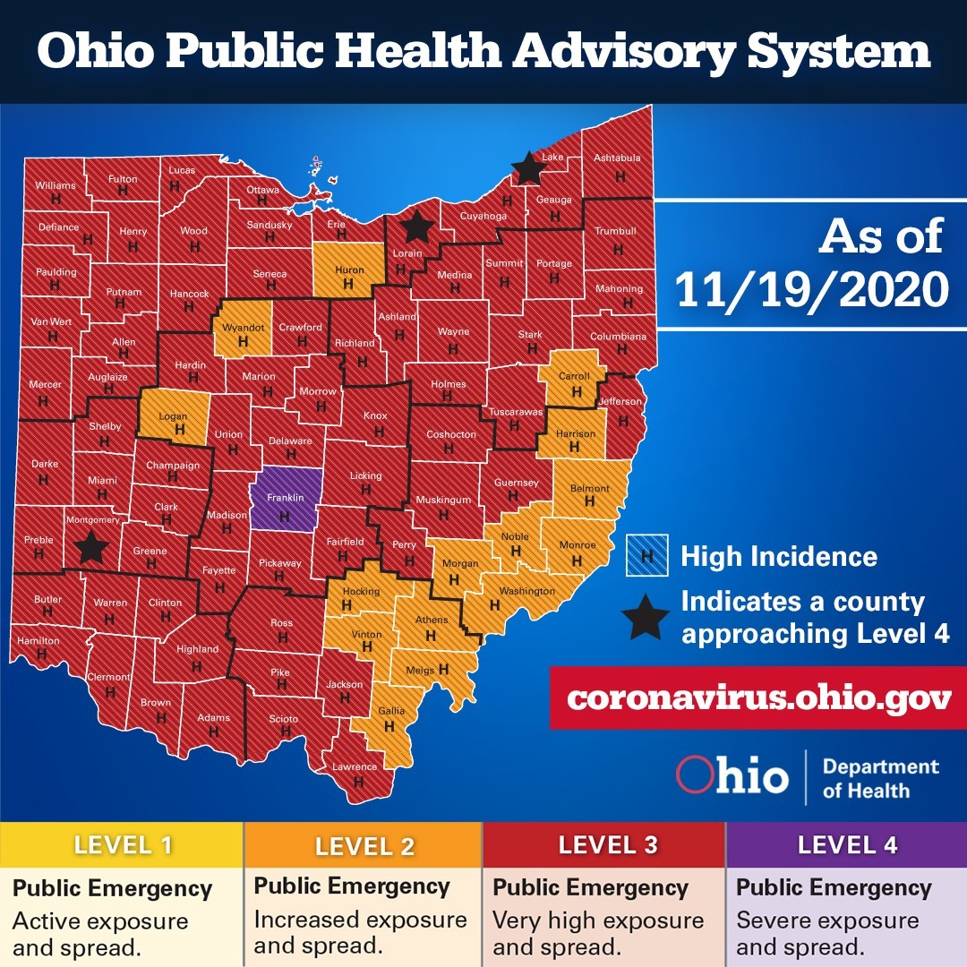 Ohio Public Health Advisory System Nov. 19