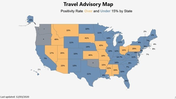 Travel Advisory Map