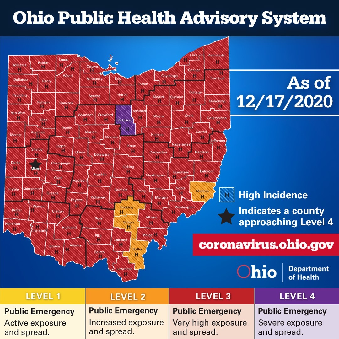 Ohio Public Health Advisory System Dec. 17