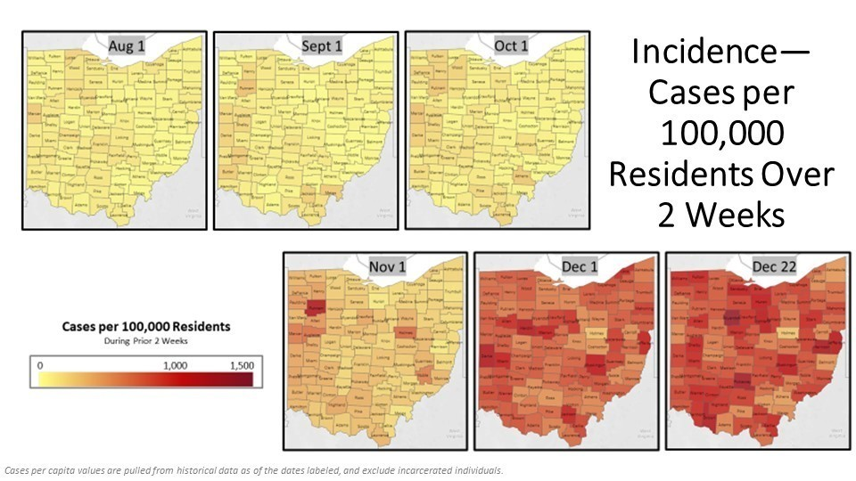Incidence - Cases per 100k