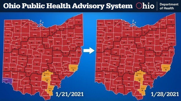 Ohio Public Health Advisory System Jan. 28
