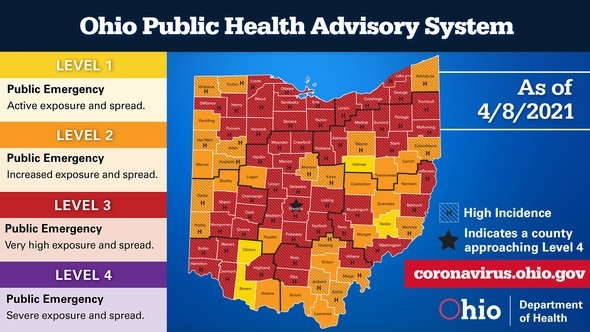 Ohio Public Health Advisory System April 8
