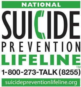 Suicide Prevention Line graphic