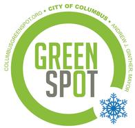 GreenSpot logo with snowflake on the dot