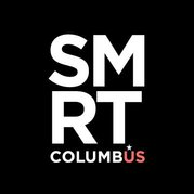 Smart Columbus logo. white letters on a black background