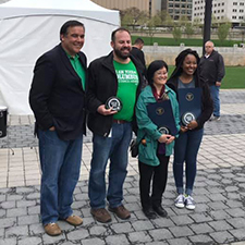 Mayor and CM Remy with GreenSpotLight winners