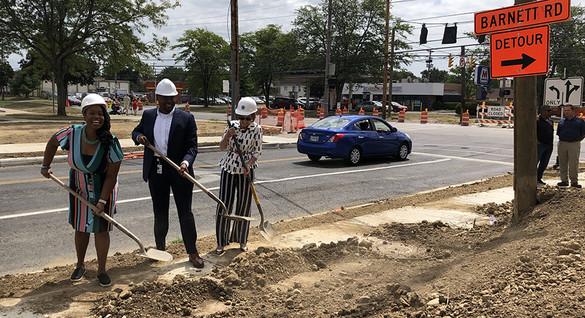 Councilmember Shayla Favor celebrates Livingston Ave Improvements