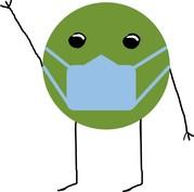 GreenSpot wearing a mask
