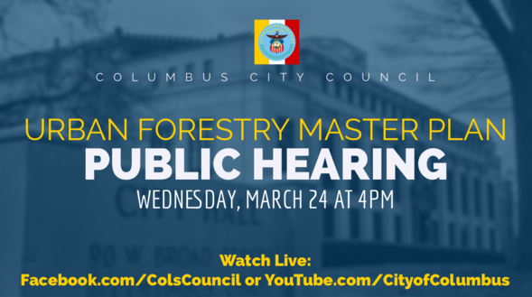 Urban Forestry Public Hearing March 21, 2021 4pm