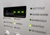 Picture of a washer machine on the cold cycle