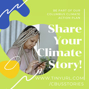 Climate change stories wanted. Woman looking at her phone