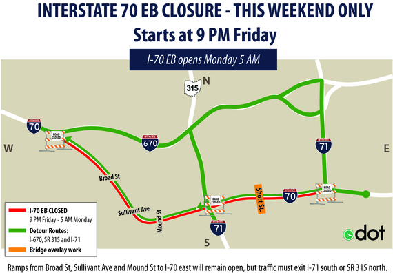 I-70 EB Closure