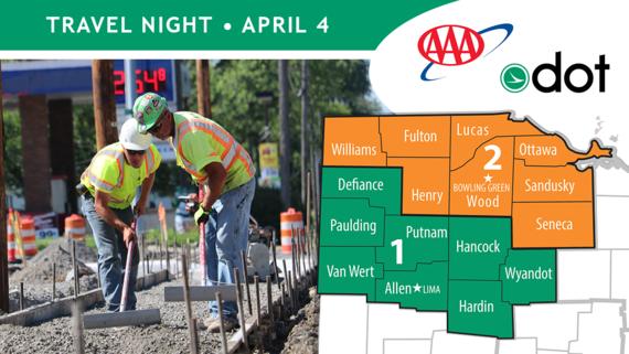 Construction kickoff, travel night