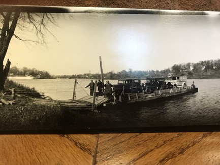 Ferry across Maumee River, 1932