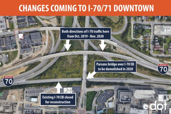 Changes on I-70 east