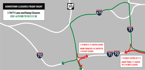 70/71 Weekend Closures