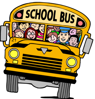 Clip art photo of a school bus