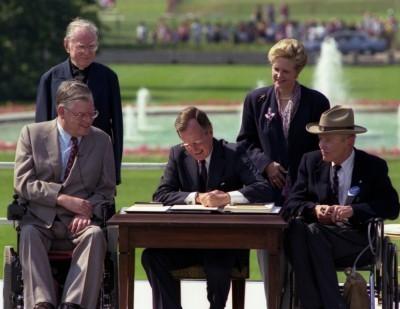 President Bush ADA Signing