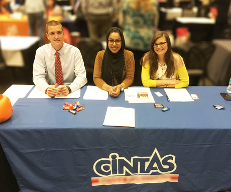 Cintas employees at Cincy Job Fair 2016
