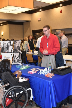 job seeker Ymani Russell at Cols Job Fair