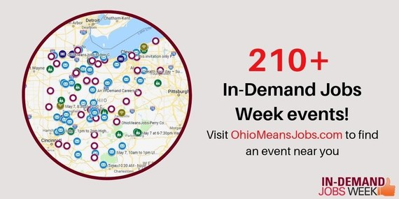 Graphic of In-Demand Jobs Week Events