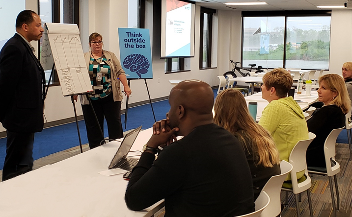 Kelly Jordan and James Clinkscale Provide Disability Awareness Training to attendees at  UnitedHealthcare Event
