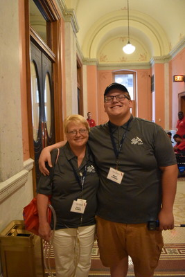 Carma and Adam Schilling at the Ohio statehouse.