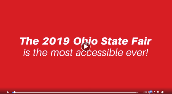 a screen shot from Facebook video about Ohio State Fair being the most accessible State Fair, ever