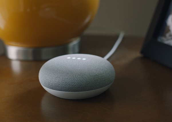 photo of a Google Home Mini