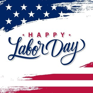 Flag Graphic : Happy Labor Day