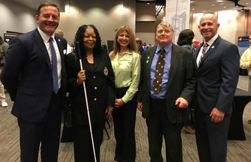 Photo of Director Miller and four OOD Council Members who attended Cincinnati Job Fair