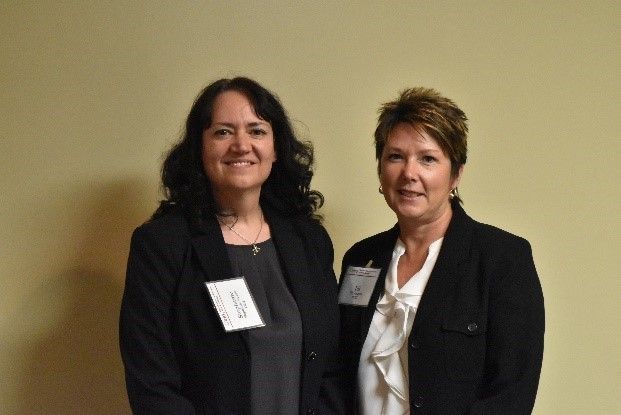 Photo of Stephanie Branco, OOD Vocational Rehabilitation Counselor and  Jill Simpson, OOD Business Relations Specialist