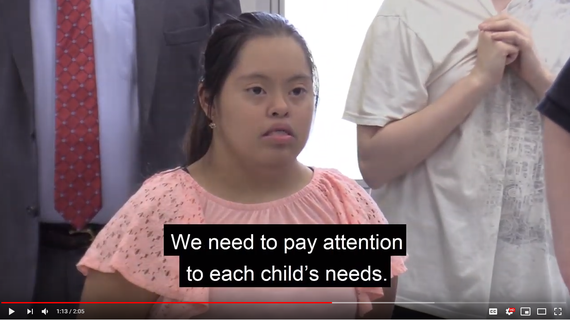 Photo of young lady with Down Syndrome fro OTSP video