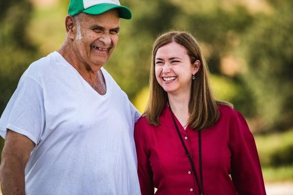 Photo of Buddy Myers and Jennifer Way, OOD Vocational Rehabilitation Counselor on Buddy's farm