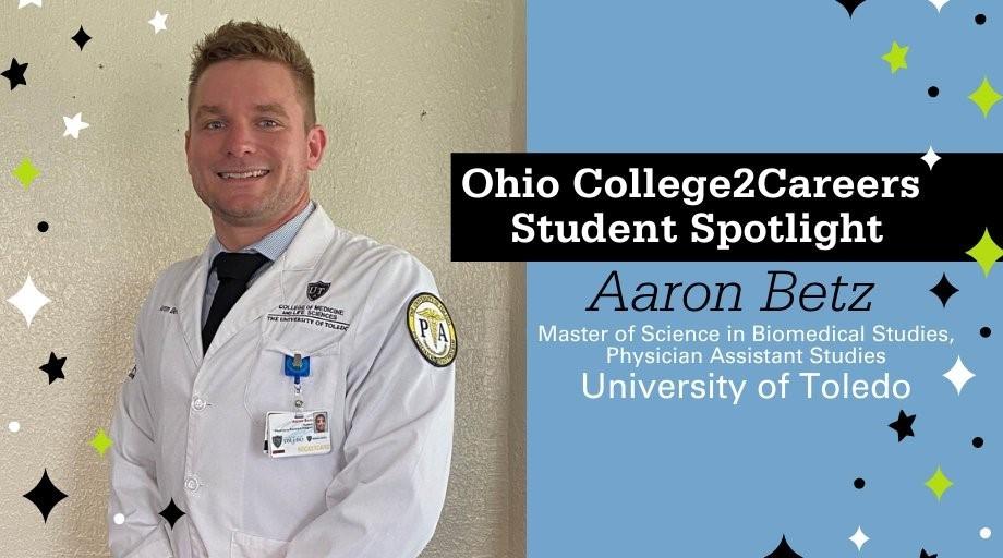 Photo of College2Careers student Aaron Betz