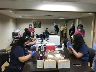 Vaccinators Preparing in Parma, Ohio
