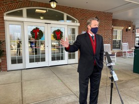 Lt. Governor in Georgetown for vaccinations