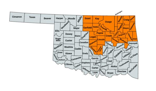 Everfi Walmart Counties Map