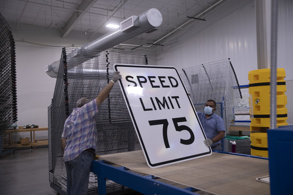 New speed limit signs