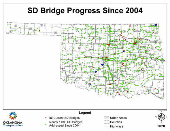 SD bridge map 2020