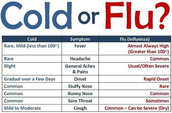 flu vs cold