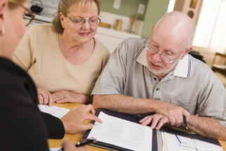 Seniors consult with care coordinator
