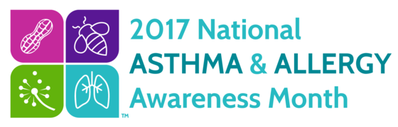 2017 National Asthma & Allergy Awareness Month graphic
