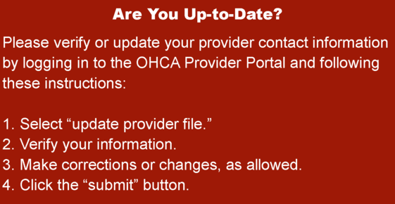 Updating your provider file